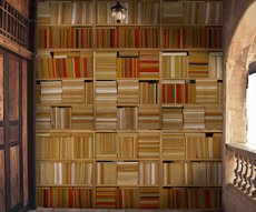 original wallpaper of books in abstract composition