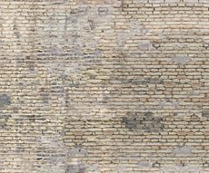 panoramic wallpaper representing a beige brick wall