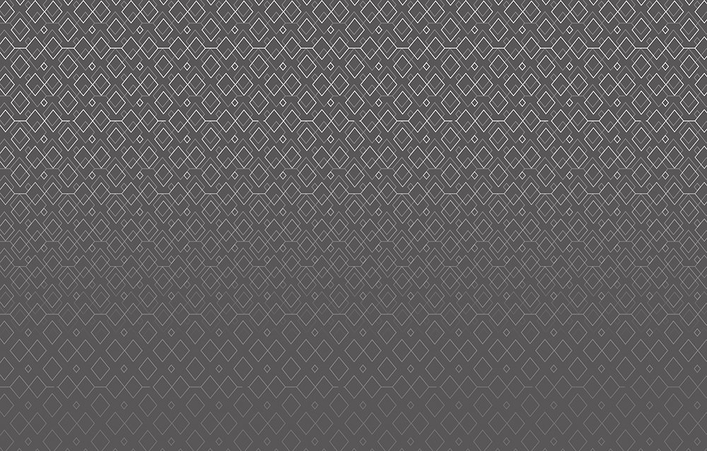 panoramic wallpaper representing white diamonds on a gray gradient background